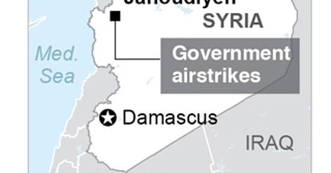 Activists: Syrian air raids kill 49 in northwestern village