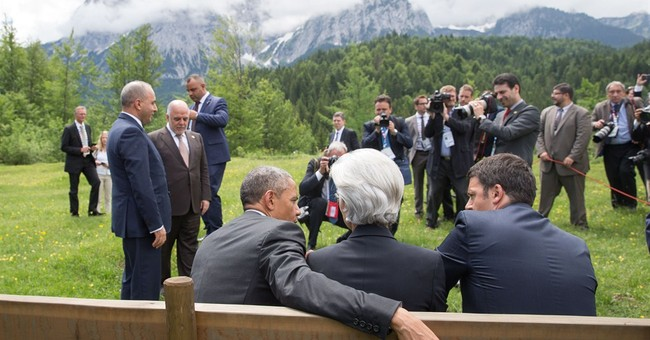 On your left, Mr. President. No, over here. Care to chat?