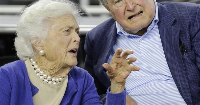 No high-flying antics for George H.W. Bush's 91st birthday