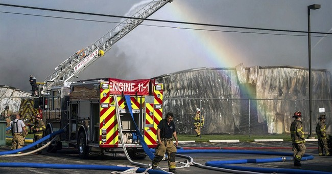 Firefighters battle blaze at chemical plant in Pennsylvania