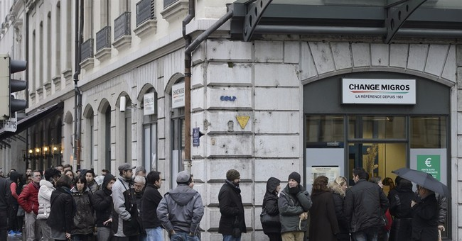 What happened to the Swiss franc?