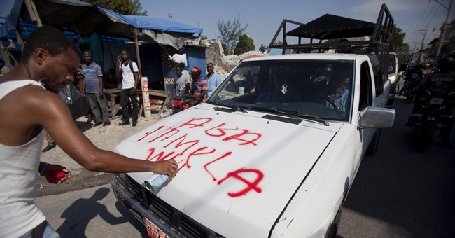 Government opponents march through Haiti's capital