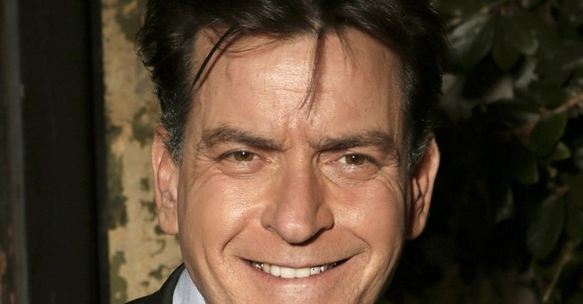 Lorre throwing love in direction of Charlie Sheen
