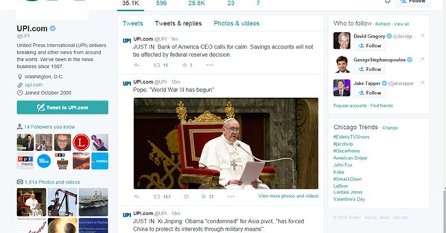 Twitter accounts of New York Post and news agency UPI hacked