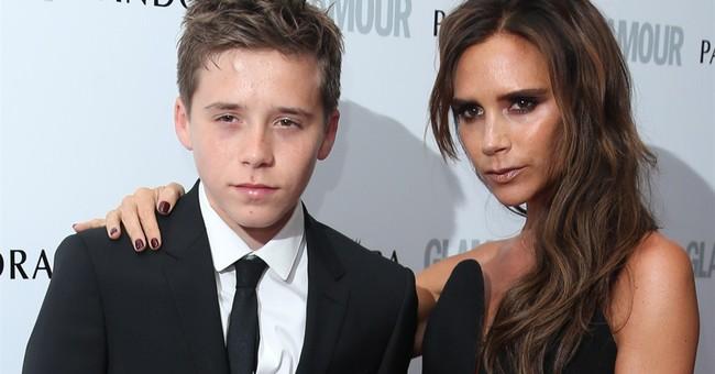 David Beckham's oldest son models for Polish fashion brand