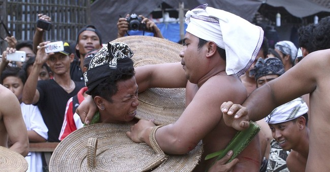 Image of Asia: Fighting to placate evil spirits in Bali