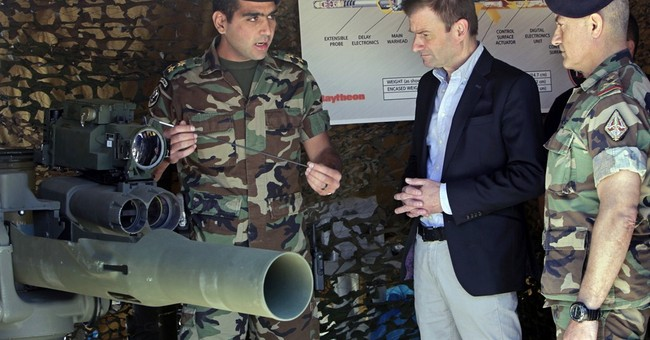 Lebanon army conducts live-fire demonstration of US missiles