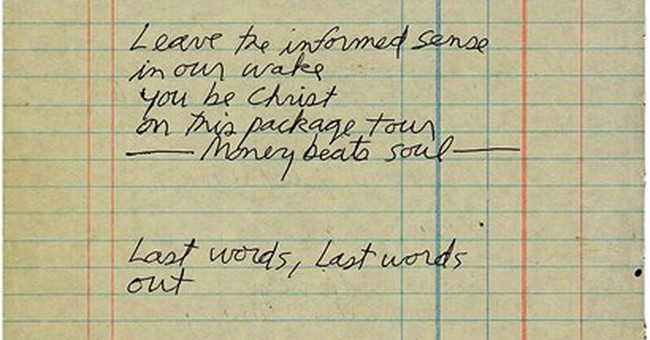Jim Morrison poem found in Paris hotel room being auctioned