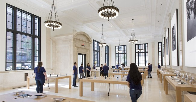 In with the old: Apple restores former bank for new store