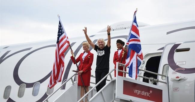 Virgin's Branson lands in Detroit to celebrate new flight