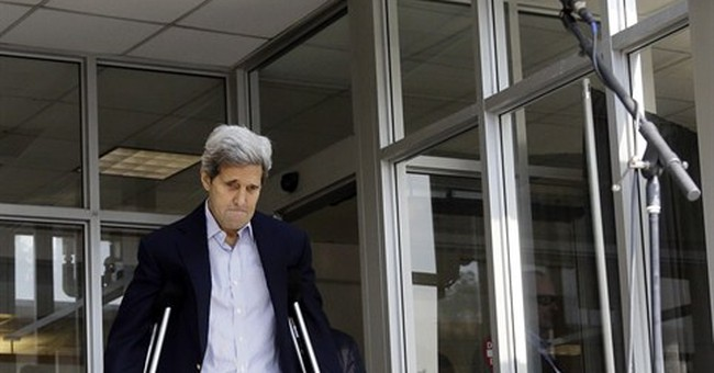 Kerry released from Boston hospital after broken-leg surgery