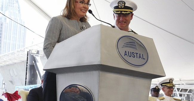 Navy ship christened for Giffords, wounded in 2011 shooting