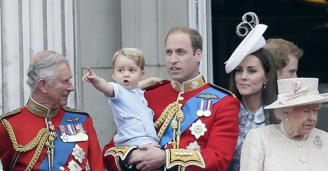 Prince George on balcony as queen marks ceremonial birthday