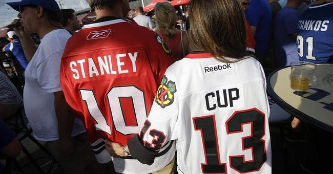 The Latest: Chicago's Vermette adds 2nd Cup game-winner