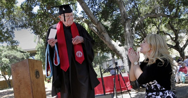 93-year-old attends Stanford graduation decades later
