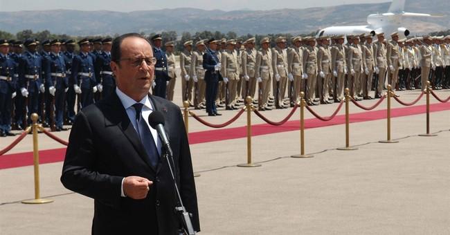 French president in Algeria discusses terrorism, economy