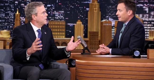 Jeb Bush 'slow jams' the news with Fallon