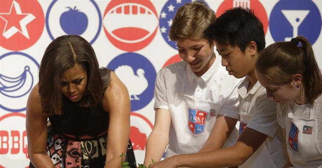 US first lady promotes key topic in Milan: eating wisely