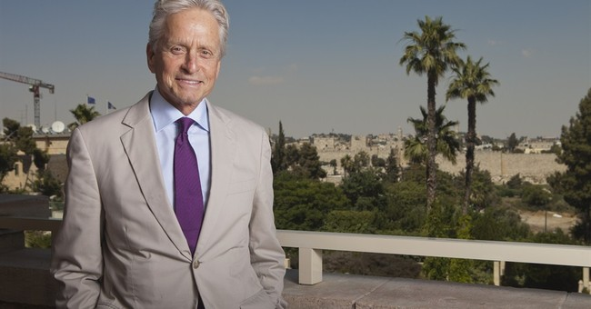 AP Interview: Michael Douglas in Israel for $1 million prize