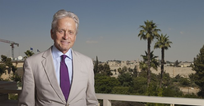 AP Interview: Michael Douglas in Israel for $1 million prize