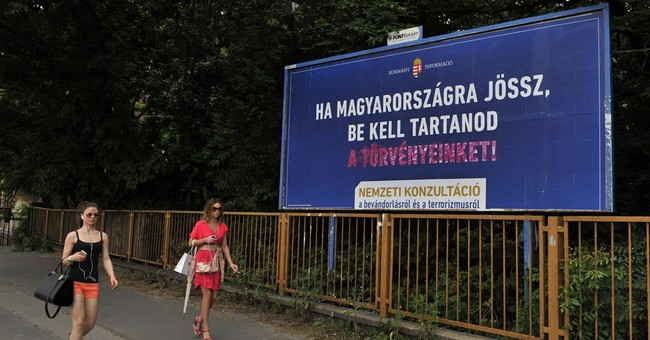 UN billboards counter Hungary govt's anti-migrant campaign
