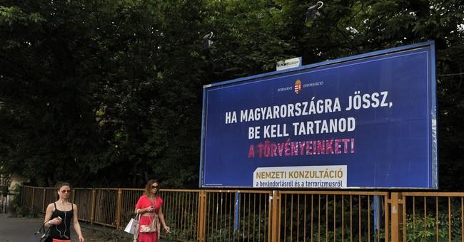 UN billboards counter Hungary govt's anti-migrant campaign