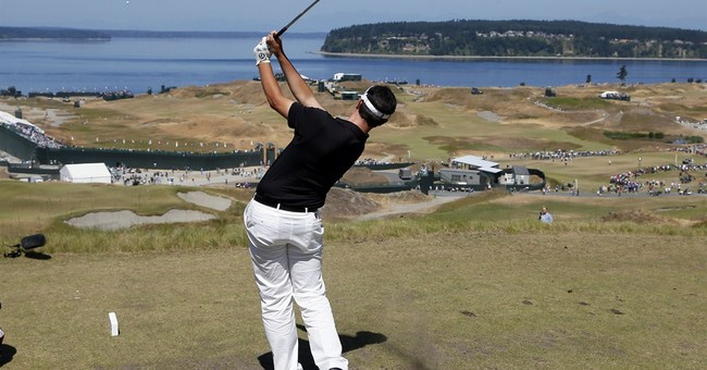 Chambers Bay looks like a links golf course, but it's not