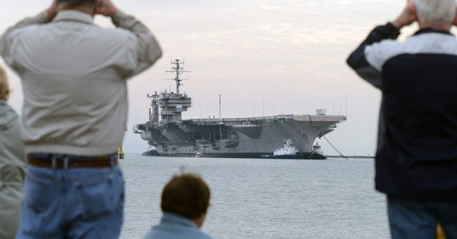 Decommissioned USS Constellation arrives in Texas for scrap