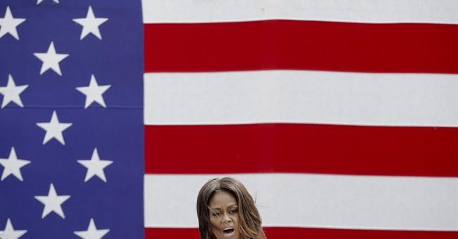 Michelle Obama recalls Charleston on visit to US base