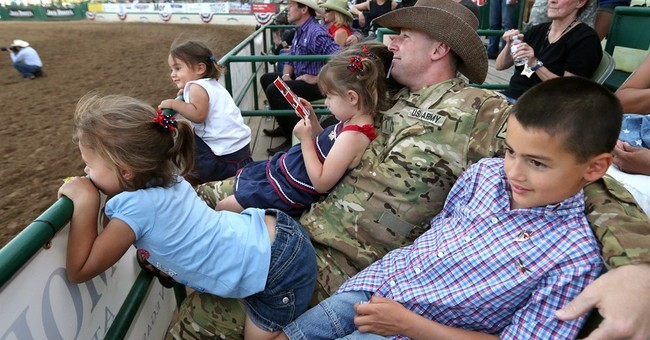 National Guardsman surprises his 6 children at Nevada rodeo