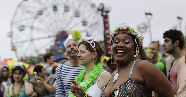 Mermaids, aquatic creatures turn out for Coney Island parade