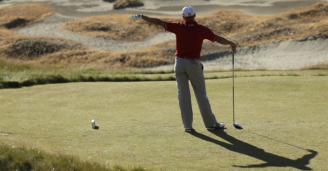 The Latest: Spieth among leaders for final round of US Open