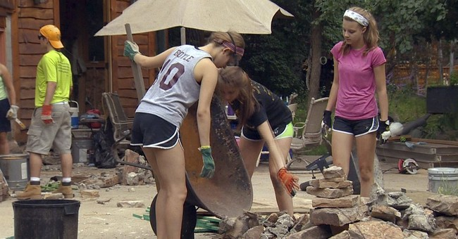 Newtown teens find healing in disaster relief service
