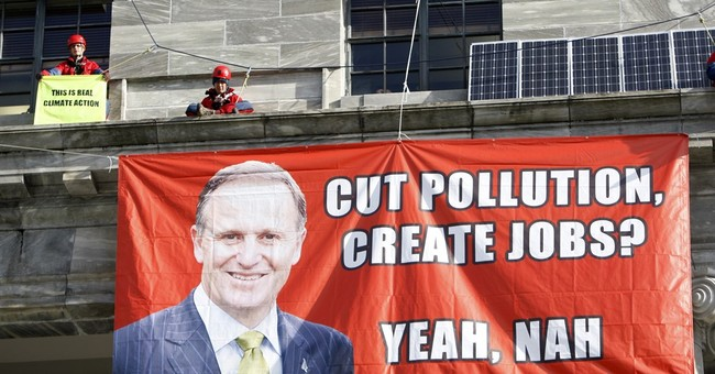 Environmental protesters scale New Zealand parliament roof