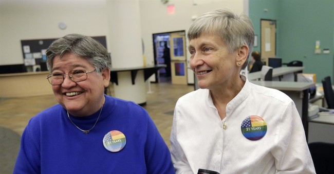 The Latest: Gay-marriage ruling another blow to GOP beliefs