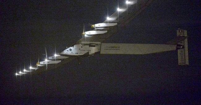 Solar Impulse plane en route to Hawaii from Japan