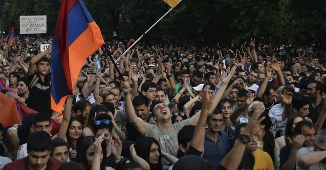 Armenia police order protesters to disperse