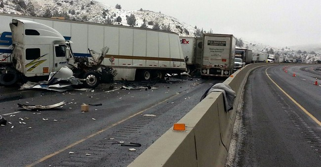 12 injured in massive Interstate 84 crash in eastern Oregon