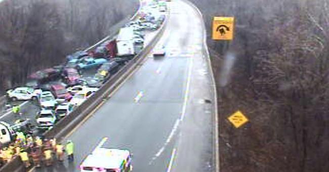 Multi-car pileups claim 4 lives on icy Pennsylvania highways