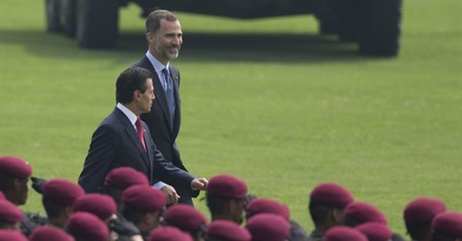 Spanish royals in Mexico on 1st state visit to Latin America