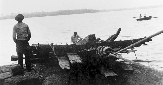 Remains of schooner raised from Lake Champlain back to Navy