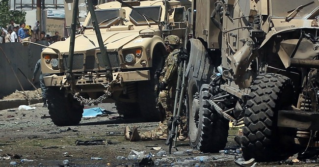 The Latest: Attack on NATO convoy in Afghanistan kills 2