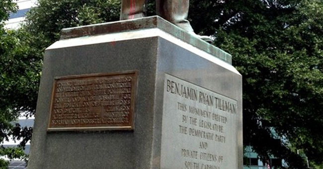 Statue of white supremacist, former SC governor vandalized