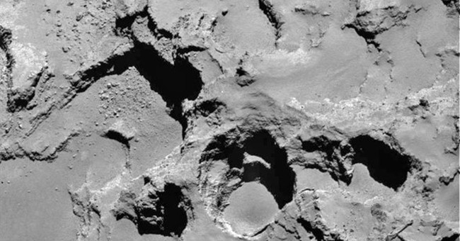 It's the pits: Comet appears to have sinkholes, study says