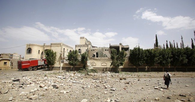 Saudi-led strikes target Yemen rebel camps, kill 8 in Sanaa