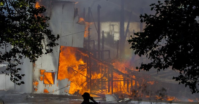 Oregon ballpark fire blamed on boys playing with fire