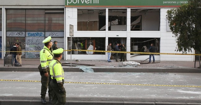 2 bombings wound 8 people in Colombia's capital, police say