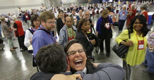 Episcopalians OK allowing gay marriage in churches