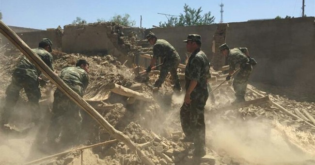 China says 6.5 quake in far west kills 3, collapses homes