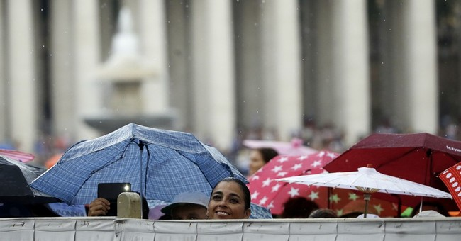 European temps climb, pope gives thanks for some rain